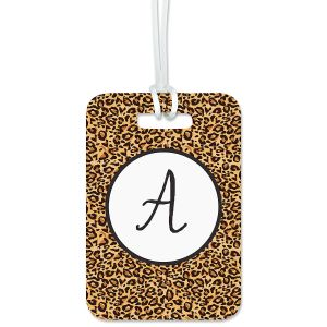 Cheetah Print Luggage Tag