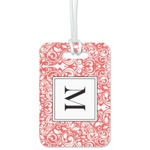 Rose Damask Luggage Tag