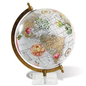 Personalized Floral Globe