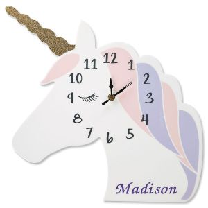 Personalized Unicorn Clock