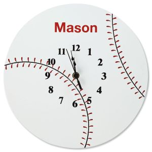 Personalized Baseball Clock