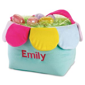 Personalized Flower Easter Basket