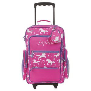 Unicorn Personalized Rolling Luggage