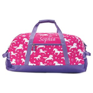 Unicorn Personalized Duffel Bag