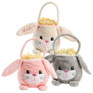 Personalized Cute Bunny Baskets