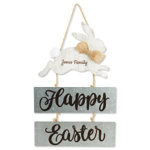 Personalized Happy Easter Sign