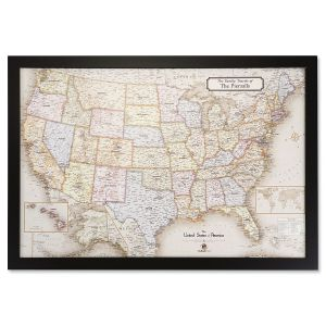 Personalized USA Magnetic Map