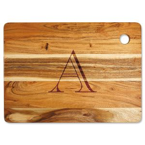 Acacia Styled Initial Personalized Large Cutting Board
