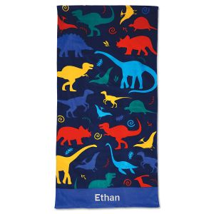 Personalized Dinosaur Beach Towel