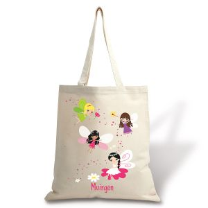 Personalized Fairy Canvas Tote