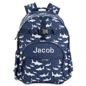 Personalized All-Over Shark Backpack