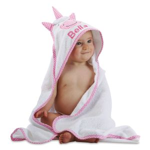 Unicorn Hooded Animal Personalized Towel