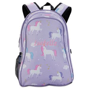 Purple Unicorn Personalized Backpack