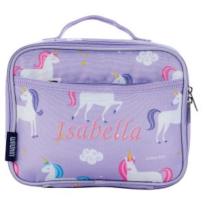 Personalized Purple Unicorn Lunch Bag