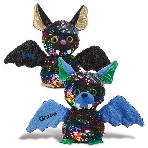 Personalized Plush Sequin Bat