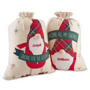 Personalized Gnome Gift Sacks