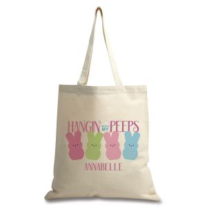 Hangin' With My Peeps Personalized Canvas Tote