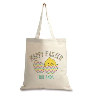 Happy Easter Personalized Canvas Tote