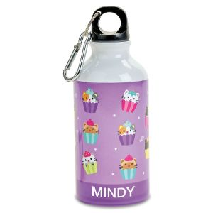 Personalized Kitten Cupcake Water Bottle