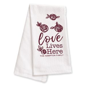 Personalized Kitchen Towel Love Lives Here