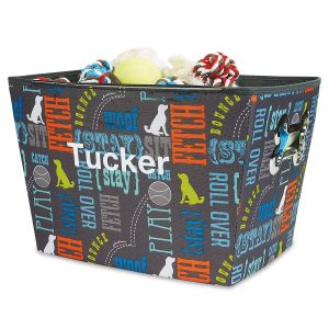Personalized Word Design Dog Bin