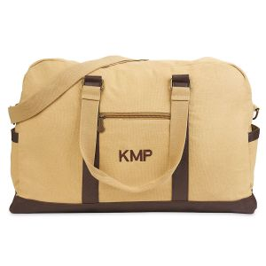 Large Canvas Personalized Duffel Bag