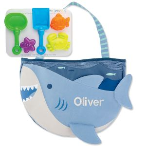 Personalized Beach Tote with Shark Toys by Stephen Joseph®