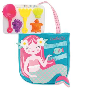 Personalized Mermaid Beach Tote with Toys by Stephen Joseph®