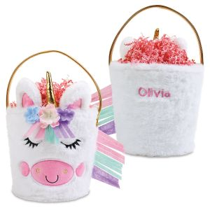 Personalized Plush Unicorn Easter Basket
