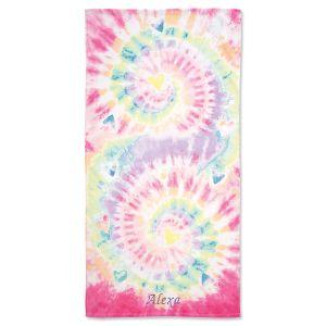 Pastel Tie-Dye Personalized Towel