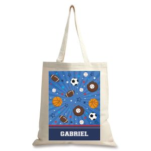 Personalized All Sport Canvas Tote