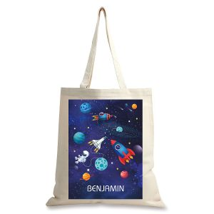 Personalized Space Canvas Tote