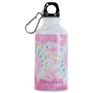 Personalized Pastel Tie Dye Water Bottle