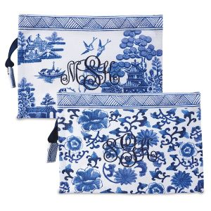 Monogrammed Chinoiseries Pouch