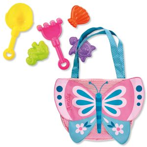 Personalized Butterfly Beach Tote with Toys