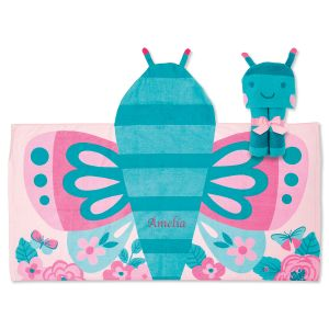 Personalized Butterfly Hooded Towel