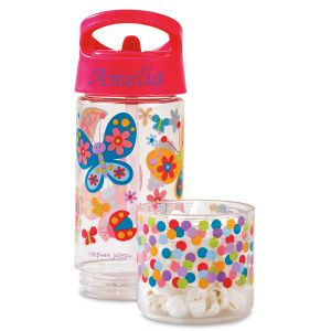 Personalized  Butterfly Sip &  Snack Bottle  by Stephen  Joseph®