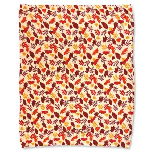 Personalized Autumn Leaves Velvet Touch Throw