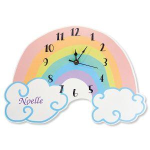 Personalized Rainbow Wall Clock