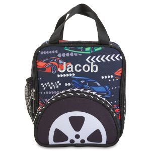 Personalized Race Car Lunch Bag