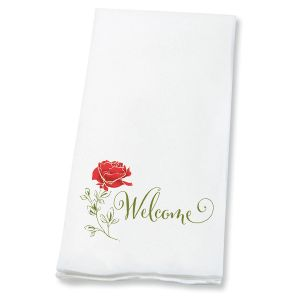 Red Rose Disposable Hand Towels