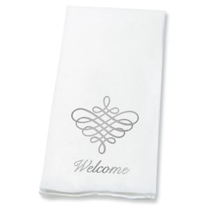 Silver Scroll Disposable Hand Towels