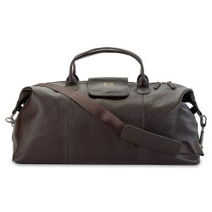 Monogrammed Genuine Leather Duffel Bag