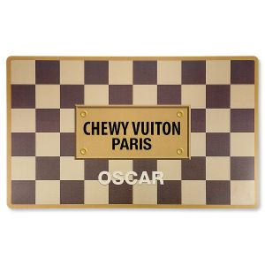 Personalized Checker Chewy Vuiton Placemat