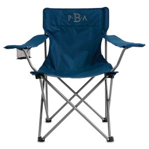 Personalized Navy Camping Foldable Chair