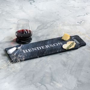 Personalized Black Marble Paddle Board