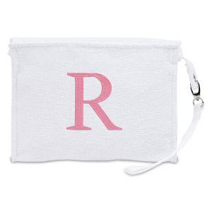 Personalized White Terry Pouch
