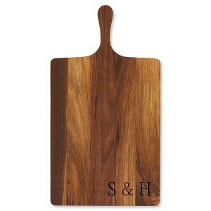 Personalized Walnut Charcuterie Wide Board