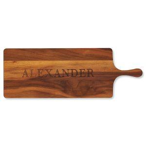Personalized Walnut Charcuterie Long Board
