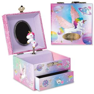 Personalized To the Moon Music Box